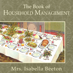 Book of Household Management(1319) by  Mrs. Isabella Beeton audiobook cover art image on Bookamo