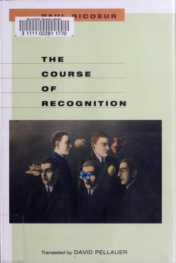 The course of recognition by Paul Ricœur