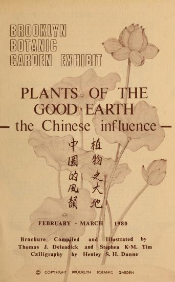Plants of the good earth by Thomas Joseph Delendick
