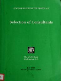 Cover of: Selection of consultants | World Bank