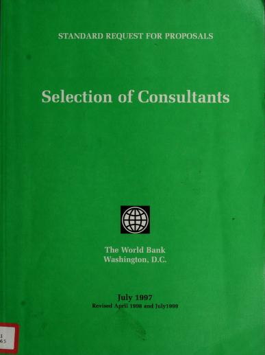 Selection of consultants by World Bank